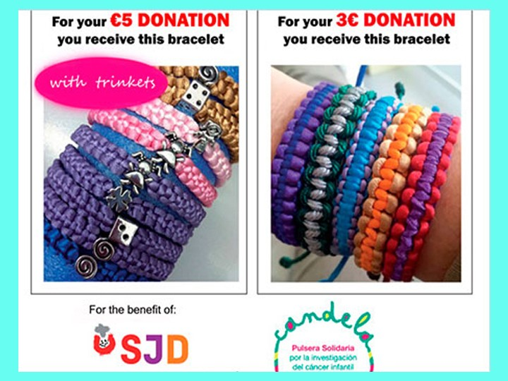 Workshop de solidarité: bracelets de Candela