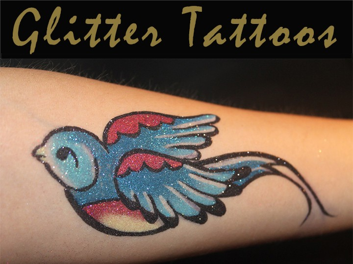 Plaster figures-Glitter Tattoos